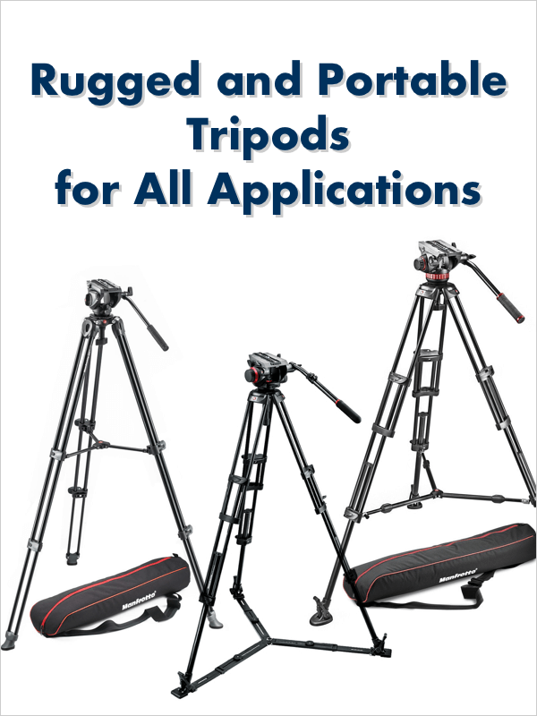 Wide Selection of Tripods